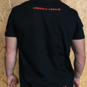 camiseta negra crossfit coraje