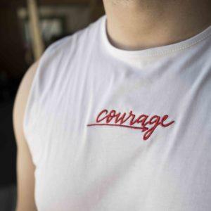 camiseta blanca tirantes verano believe courage